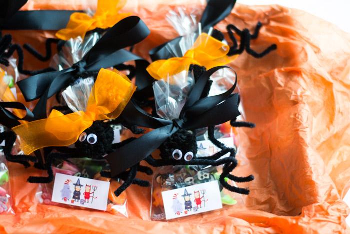 Bolsas de caramelos Halloween DIY