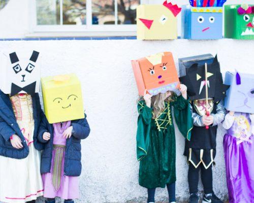 Disfraz carnaval cajas de cartón DIY