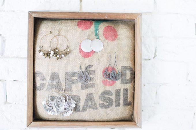 Cuadro para joyas DIY