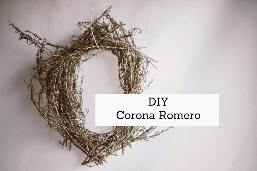 Cómo hacer una corona de romero