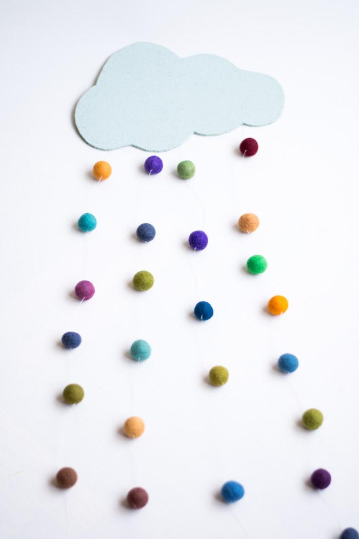 Nube de colores DIY
