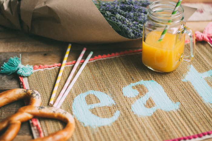 DIY mantel colorido