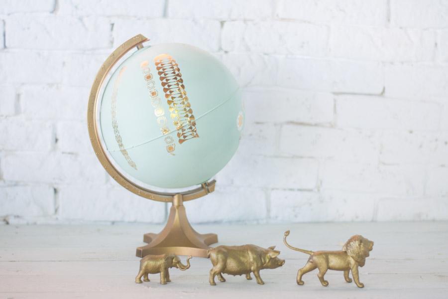 Decoraci n bola mundo diy la chimenea de las hadas - Decoracion facil y barata ...