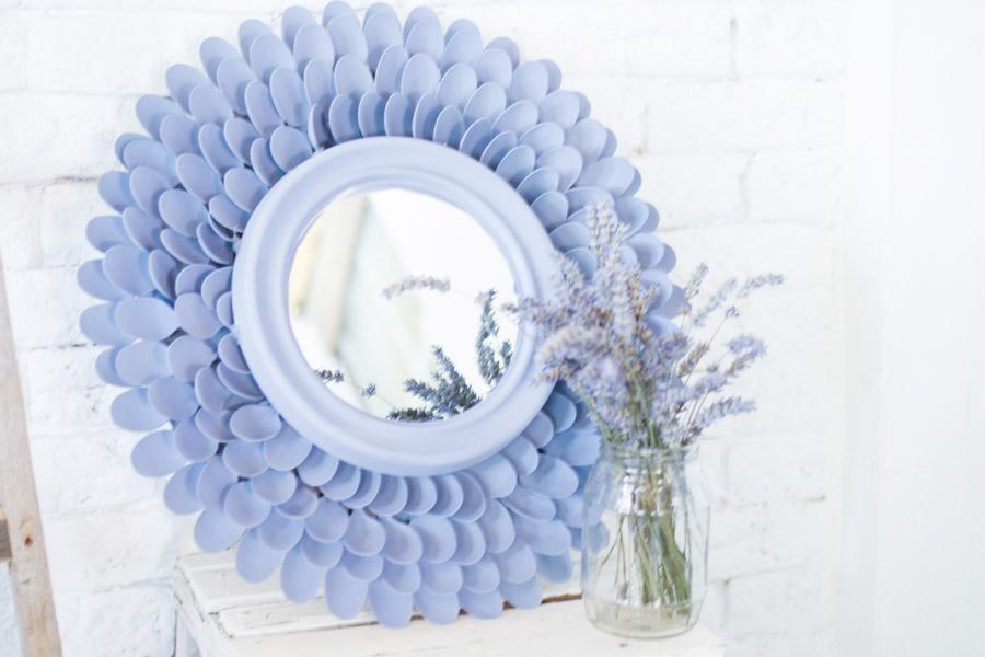 Espejo cucharas pl stico diy la chimenea de las hadas - Espejo de plastico ...