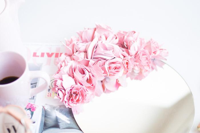 Espejo flores diy