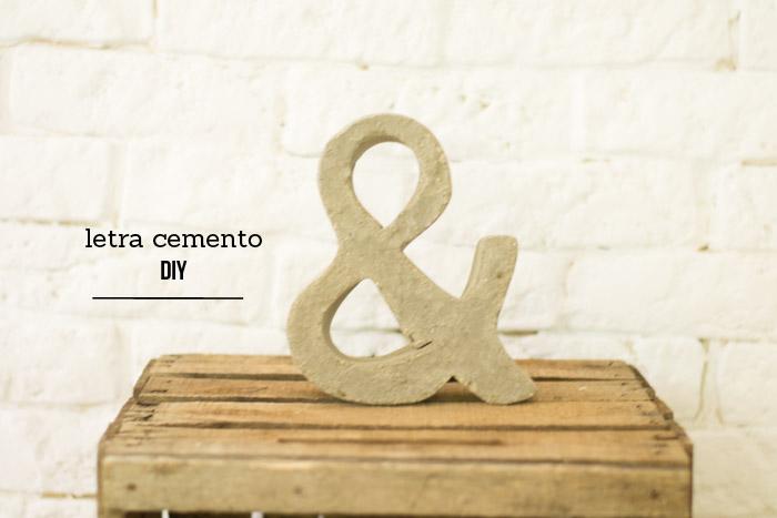 Cómo hacer una letra de cemento – La chimenea de las hadas