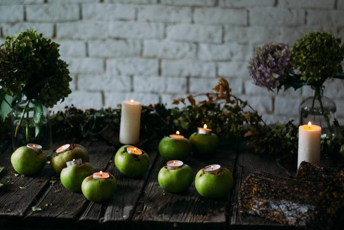 Deco velas DIY manzanas