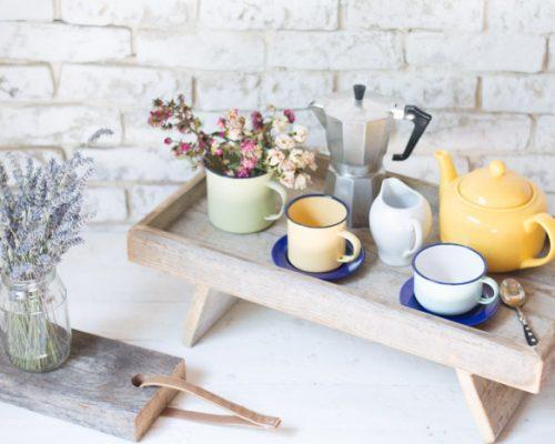 Bandeja madera DIY desayuno