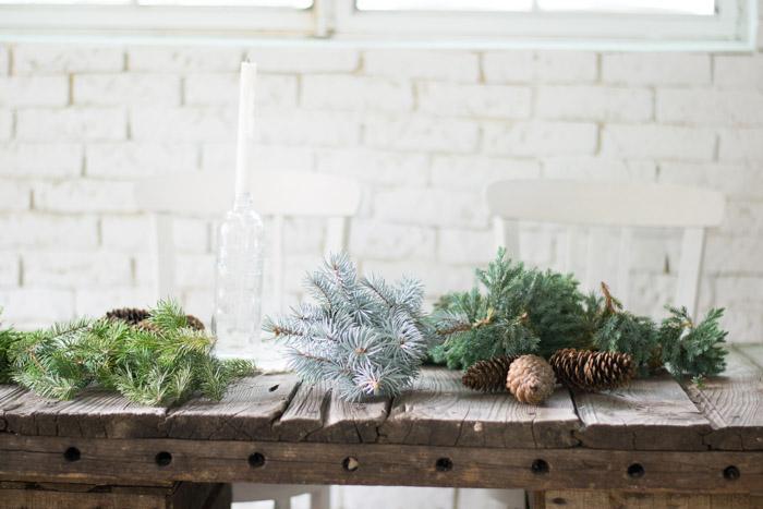 Centro de mesa navidad natural diy