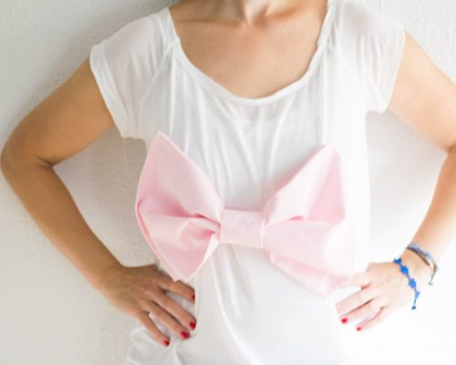 Súmate al rosa. Camiseta lazo diy