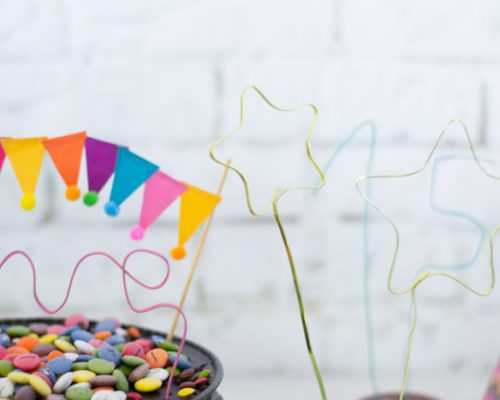 Adornos topper tarta DIY