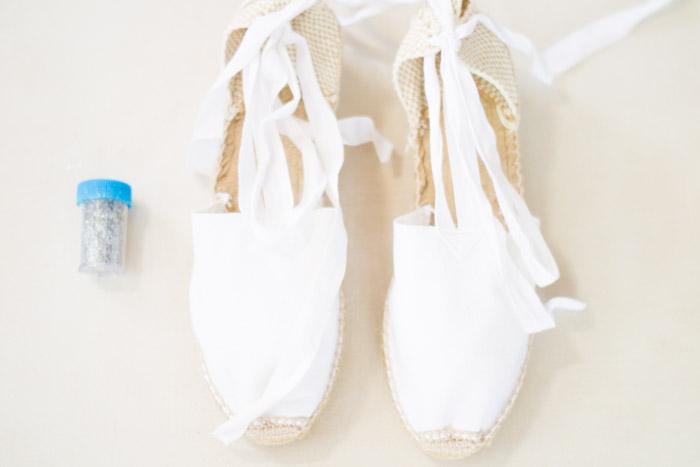 DIY calzado con purpurina