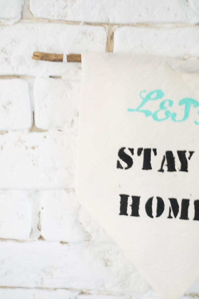 Como hacer un wall banner diy