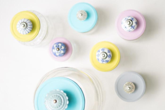 Botes de cristal con tiradores diy