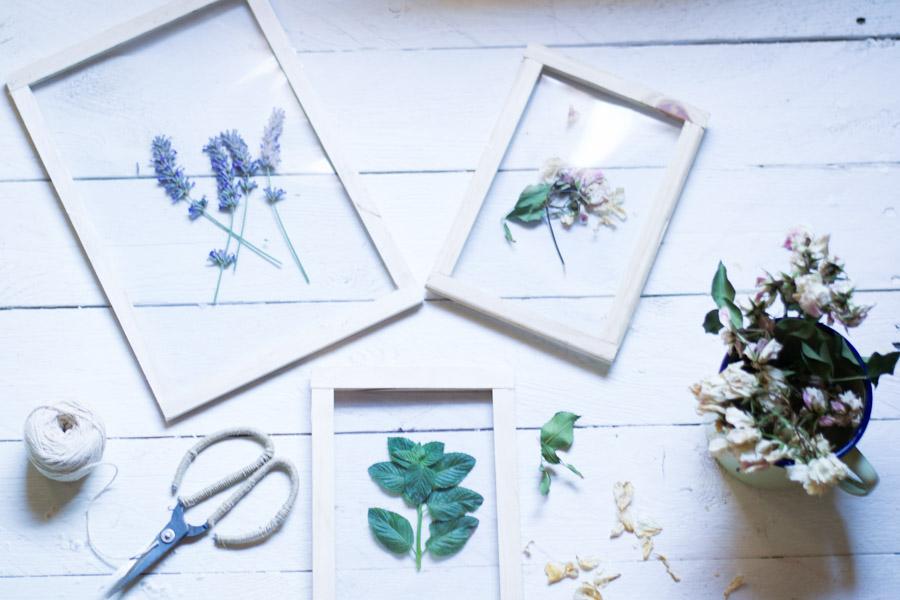 Cuadros flores secas diy – La chimenea de las hadas