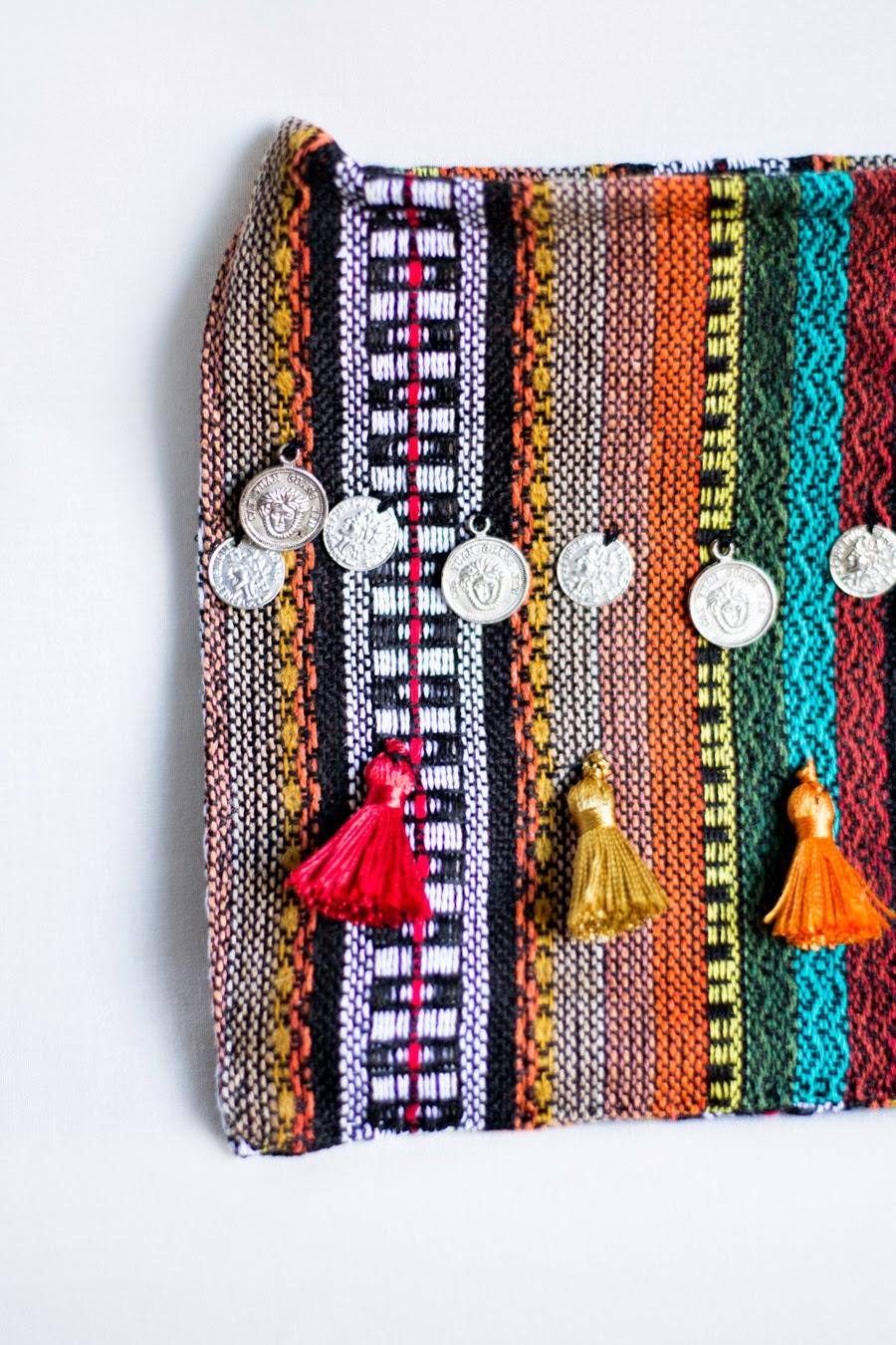 Cómo hacer un bolso estilo étnico {DIY}