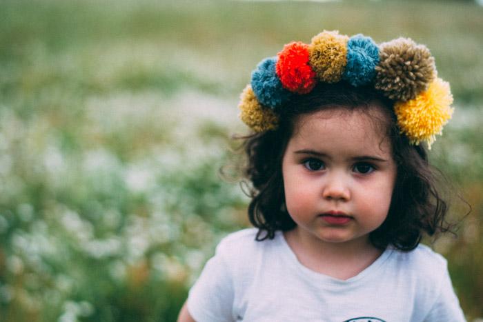 Diadema pompones niña diy