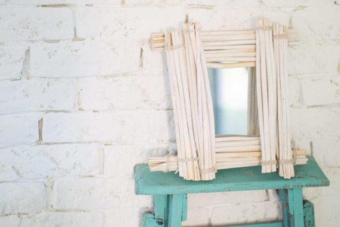 Espejo bambú diy