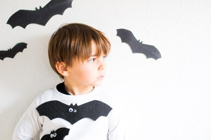 Camiseta Halloween murciélago DIY con HP