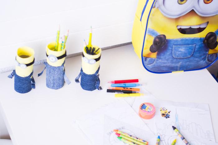 Portalapices DIY y Mochila Minions La Redoutte