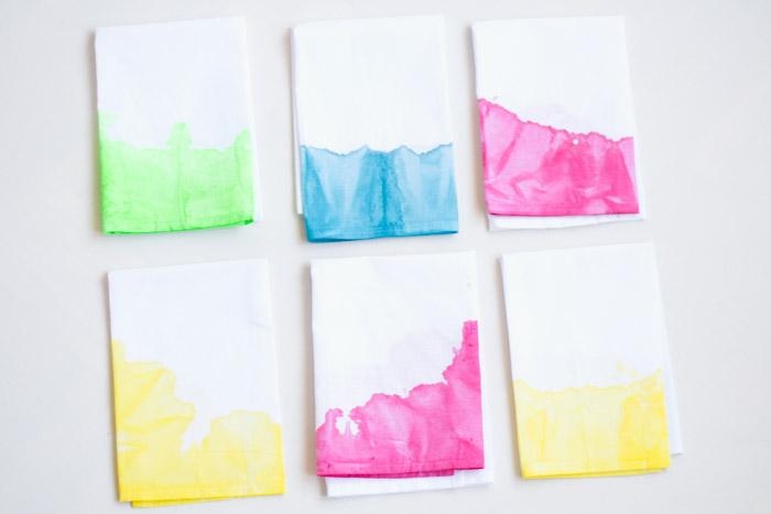 Mantel y servilletas Tie-Dye diy