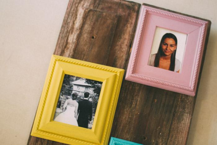Marco para fotos DIY con materiales recuperados
