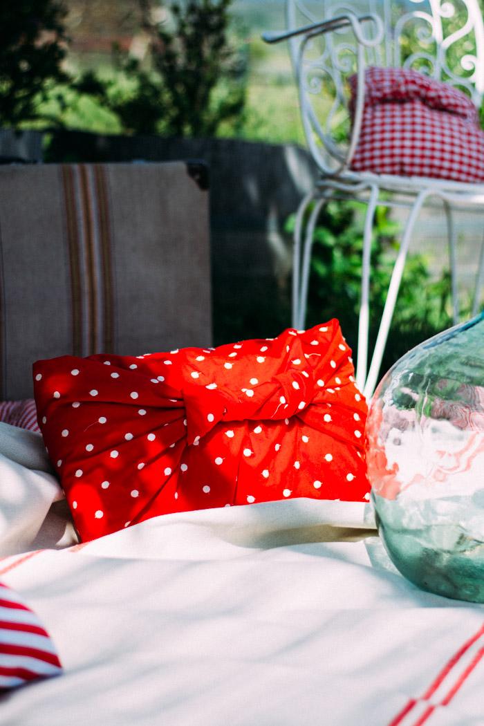 Merienda en el campo con telas DIY