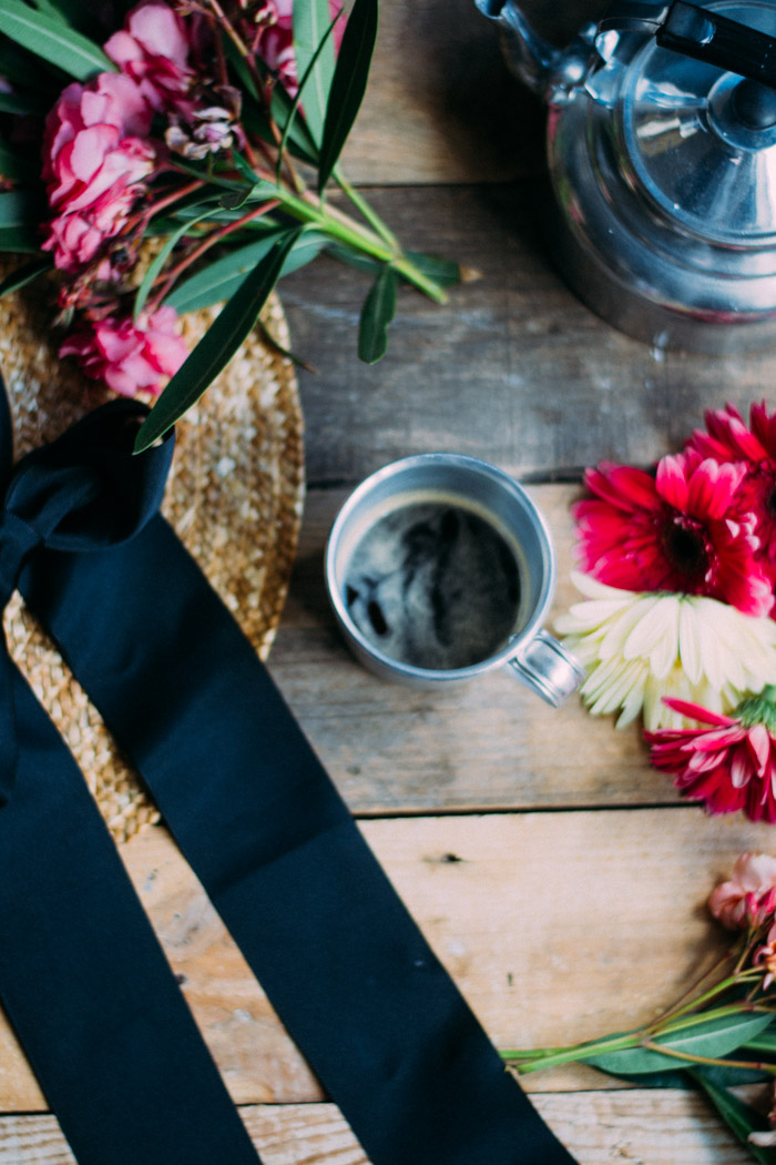 Café y flores
