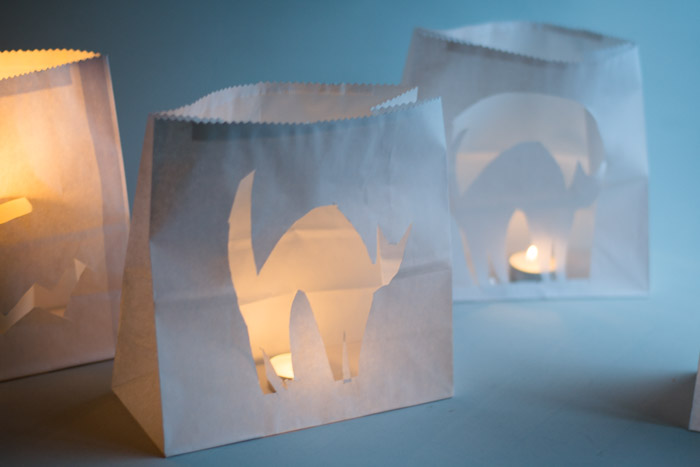Paper bag luminaries DIY Halloween