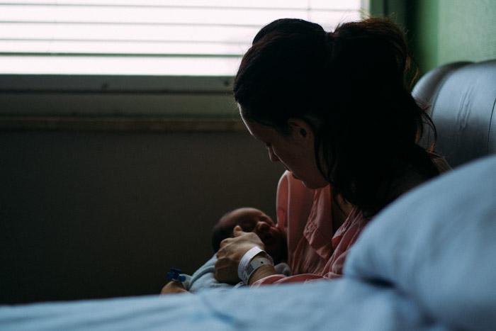 Fotografías de un bebé recién nacido