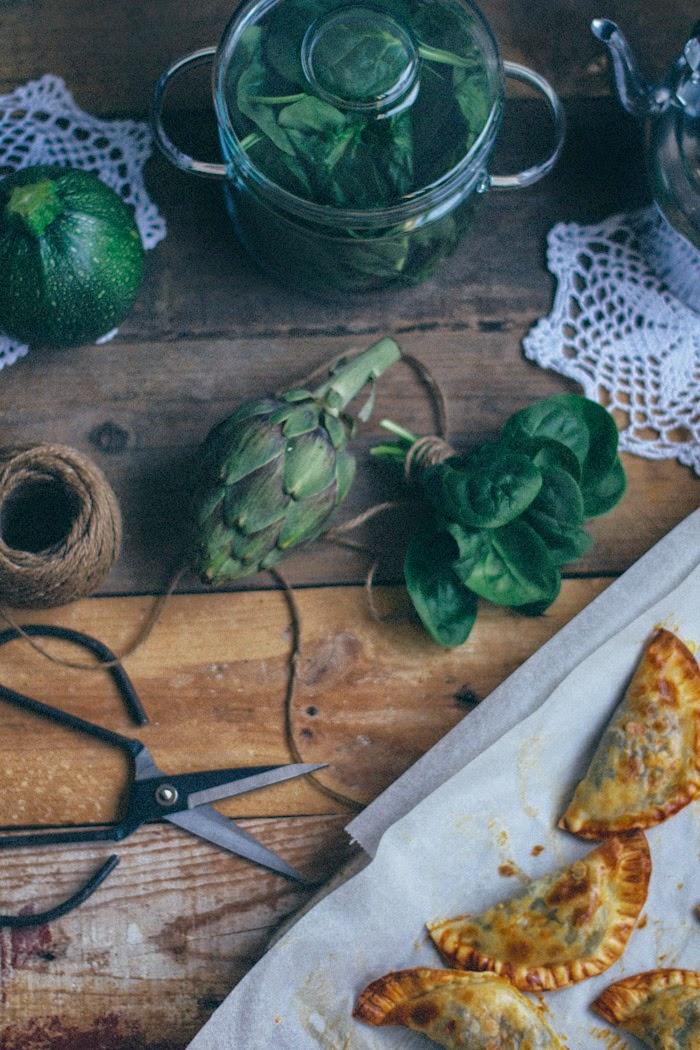 Empanadillas de espinacas y queso