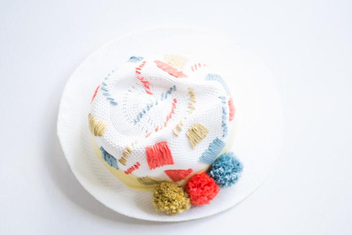 Sombrero divertido lana diy