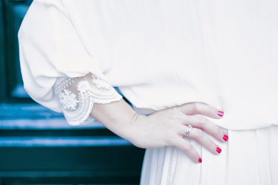 Vestido romántico y vintage