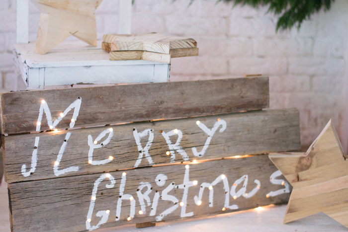 Cartel Madera Merry Christmas DIY con Gocco