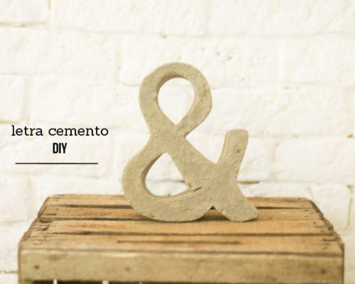 Cómo hacer una letra de cemento